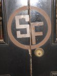 "Look at these fun door pulls at the entrance to the ""Lincoln's and Longhorns "" shop"