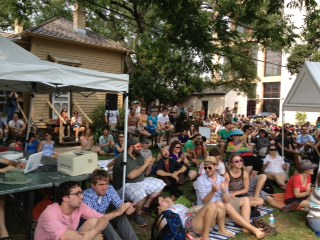Look at all the people who pack the lawn behind the O. Henry house