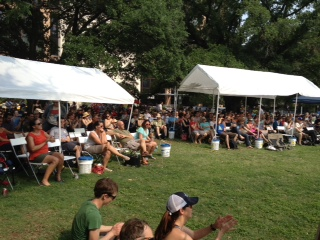 Another view of the crowd at the O. Henry Pun-Off