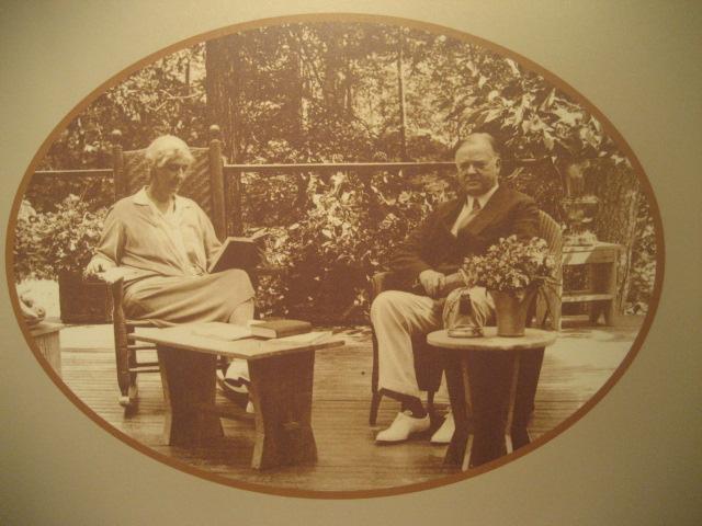 Lou and Herbert Hoover at Rapidan Camp