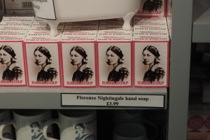 Florence Nightingale soap in the museum gift shop.