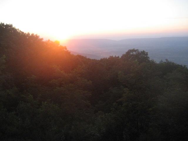 Sunset, Shenandoah National Park, July 2012