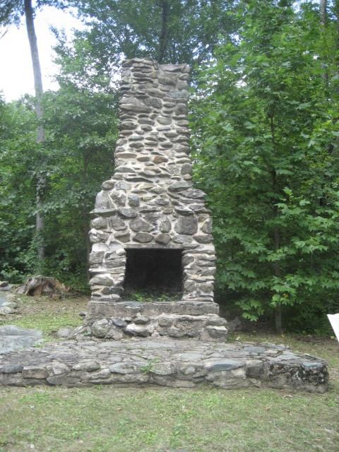 Rapidan Camp fireplace