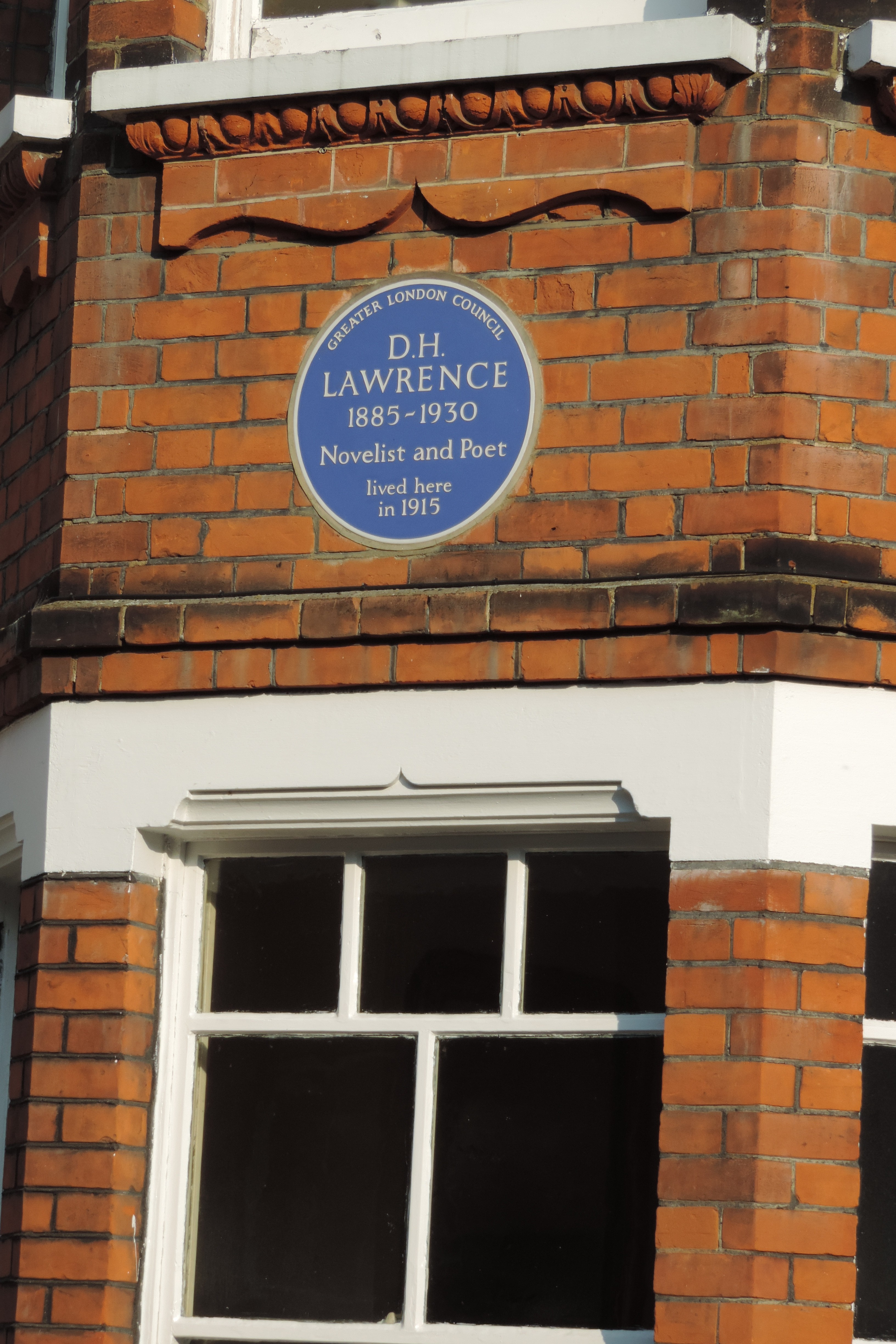 "The author of ""Sons & Lovers"" lived here in 1915. Hampstead Heath, London"