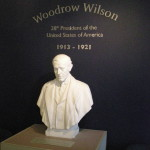 Woodrow Wilson bust, Woodrow Wilson presidential museum, Staunton, VA