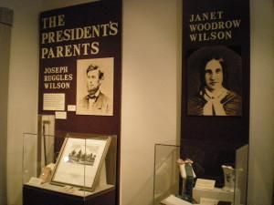 Wilson family photos, presidential museum, Staunton, VA