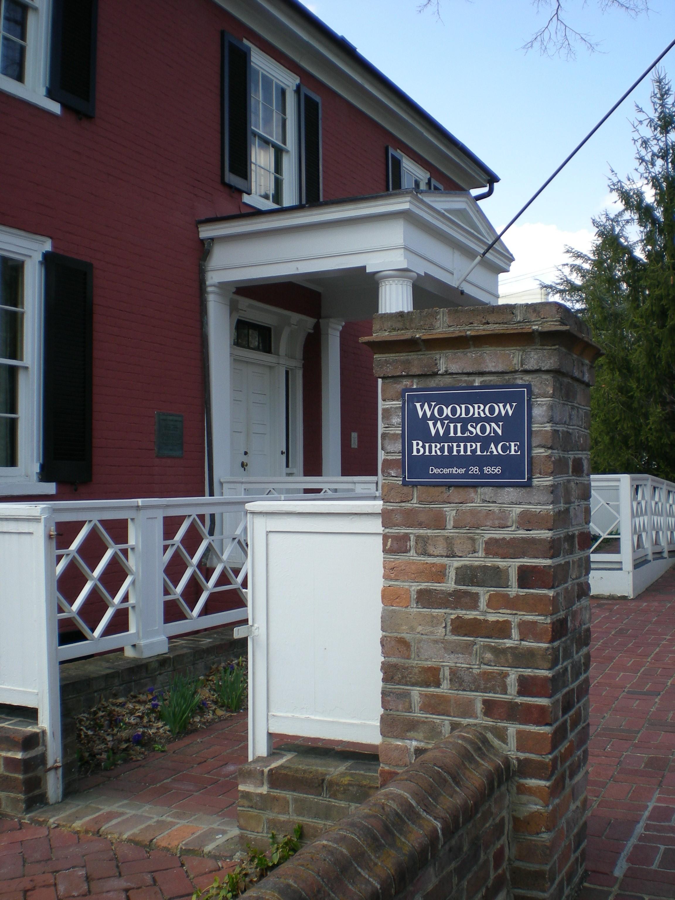 Wilsons' front door, Staunton, VA