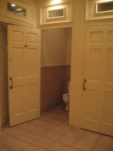 Ladies bathroom at the Driskill
