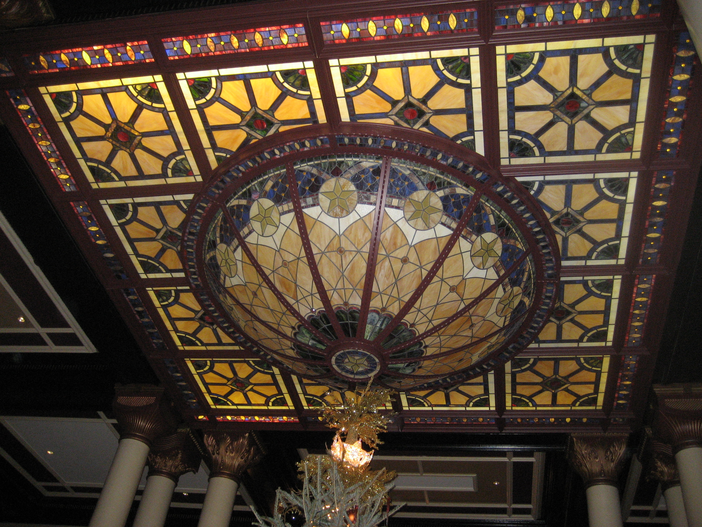 Driskill hotel light - lobby ceiling