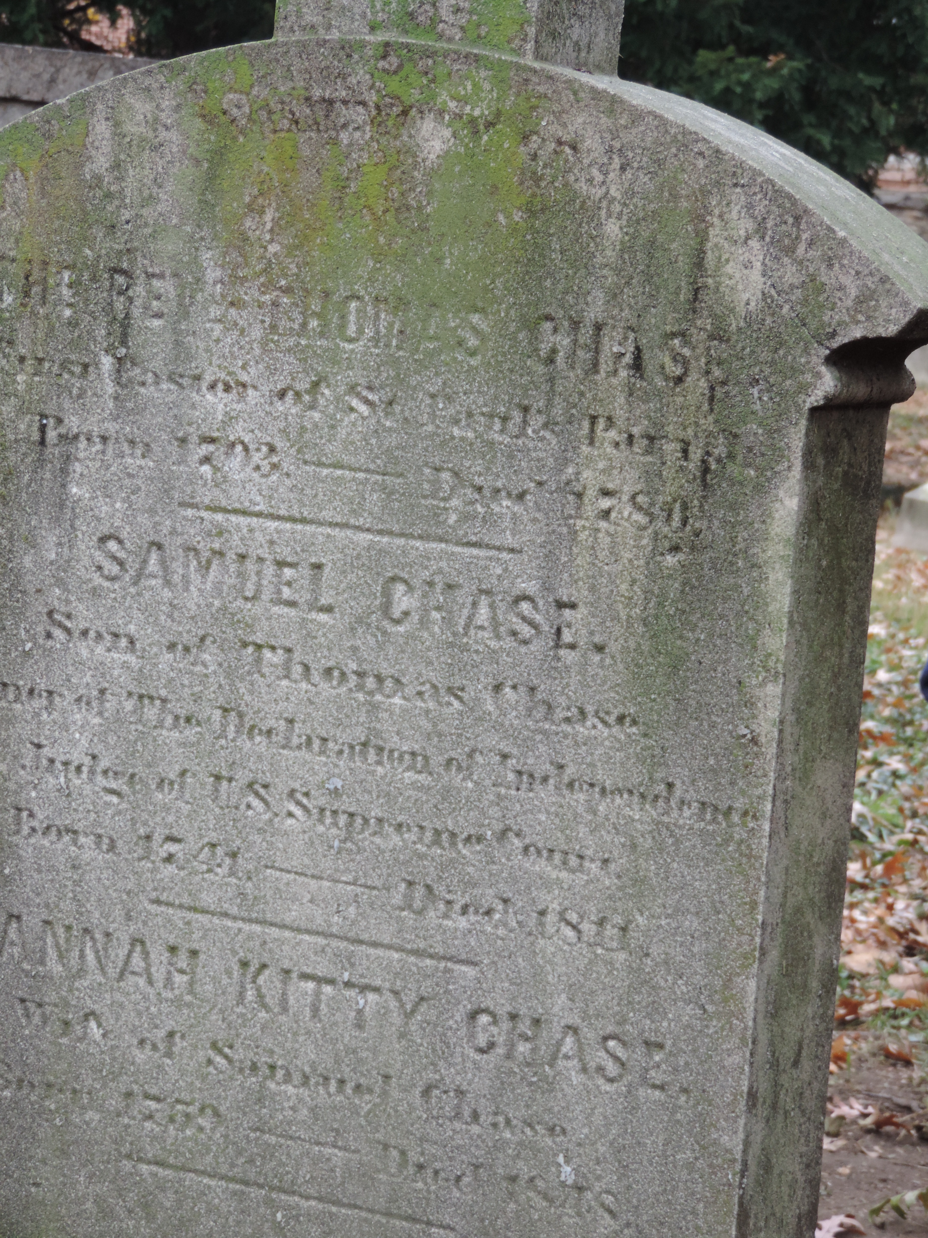 The grave of Samuel Chase, signer of the Declaration of Independence