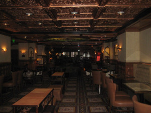 Check out the cooper ceilings at the bar in the Driskill Hotel, Austin