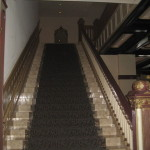 Here's a staircase in the Driskill hotel. I don't know if it's THE staircase.