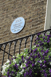 Sherlock Holmes' home sports a blue plaque