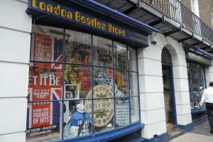 London Beatles Store, just steps from the Sherlock Holmes museum