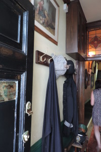The foyer of the Sherlock Holmes museum.