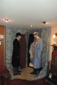 Watson and Holmes figures at the Sherlock Holmes museum, London