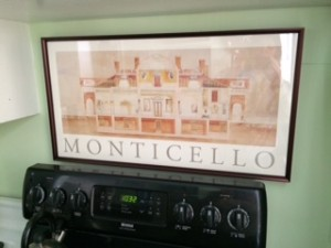 Monticello poster in my kitchen