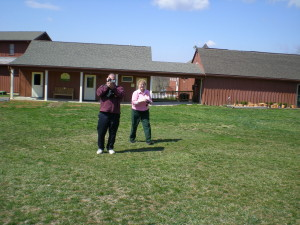 The Nerd Trips paparazzi? Aunt Viola and Uncle Joe with his video camera!
