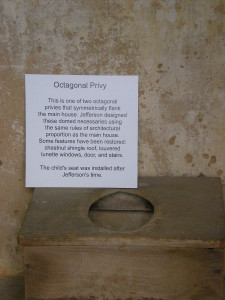 Of course I took a picture inside the privy!