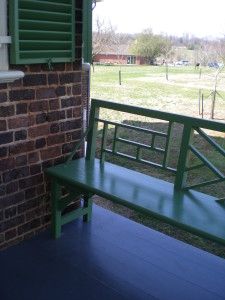 "All the trim at Poplar Forest is painted in ""Jefferson green."""
