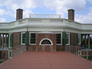 You can get up close and personal to Jefferson's house when you take a walk on the roof of the wing