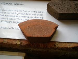 Five-sided brick at Thomas Jefferson's Poplar Forest