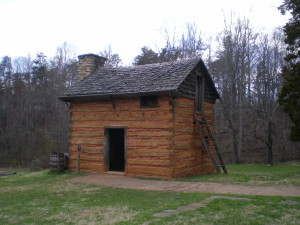 Booker T. Washington's house on the Burrough's plantation: Moneta, Virginia