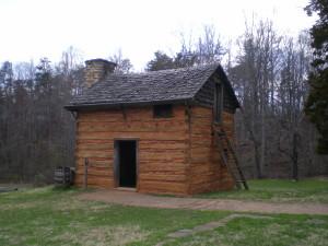 Booker T. Washington's house on the Burrough's plantation: Moneta, Virginia