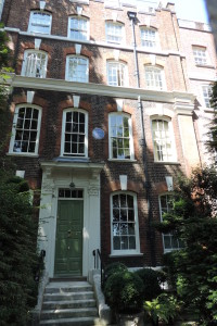 George Eliot house, Cheyne Walk, Chelsea, London