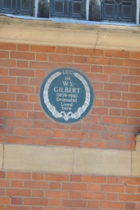 English Heritage blue plaque for W.S. Gilbert