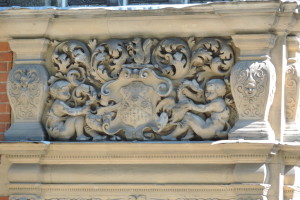 Here's a detail of some amazing decorative details on the buildings.
