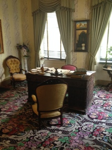 This is original desk James Buchanan had in the Oval Office. It was donated to Wheatland only recently.