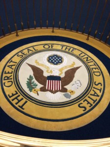 Presidential seal at the Hall of  Presidents