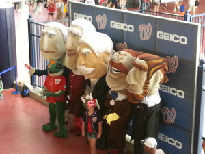 My friends found a place where you can get your pic with all the presidents (and the Geico gecko).