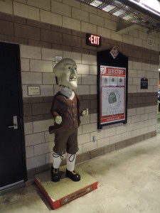 Thomas Jefferson statue, Washington Nationals stadium, July 2013