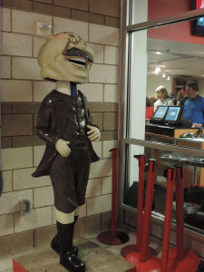 Teddy Roosevelt statue at Nationals Park (Sept 2013). Look how long and lean he is.