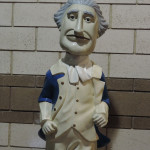 Washington statue at Nationals Park. I think he looks like Cold Miser.