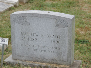 Burial site for photographer Matthew Brady
