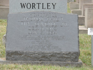 Tip O'Neill grave marker, Congressional Cemetery (Washington, D.C.)