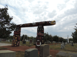 Check out this totem pole in Congressional Cemetery (Washington, D.C.)