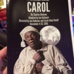 "Program from ""A Christmas Carol"" at the Chesapeake Shakespeare Company (Dec. 2015)"