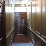 The hallway of the Stevenson house, Ben Franklin walked through this hallyway.