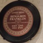 Ben Franklin lived here