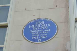 Jimi Hendrix blue plaque, London