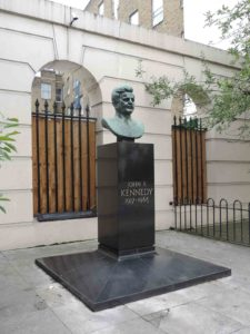 JFK bust, Marlyebone Road, London