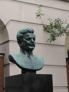 John F. Kennedy bust in London